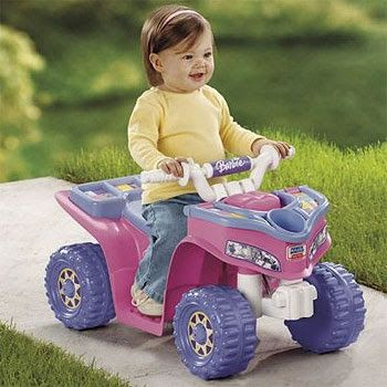 Power Wheels Fisher Price Barbie Lil Trail Rider ATV Girl's Sport Quad!