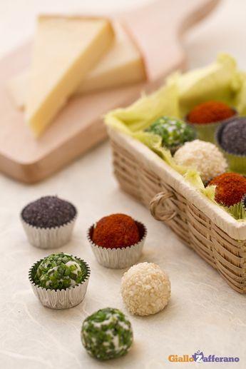 Tartufini Di Formaggio Ai Quattro Colori Ricetta Ricette Finger Food Antipasti