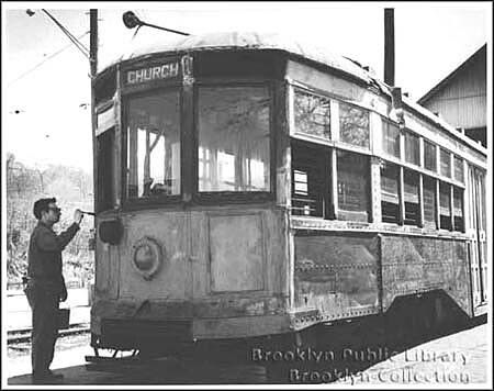 Church Ave, Brooklyns last trolley 1972