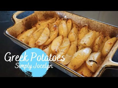 How To Cook Greek Style Roasted Potatoes Simply Jocelyn Food Simplyjocelyn Greekfood Greekpotatoes Cookath Cooking Greek Style Potatoes Roasted Potatoes