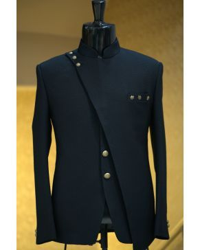 Black Italian Woven Jodhpuri Suit St970 Designer Suits For Men