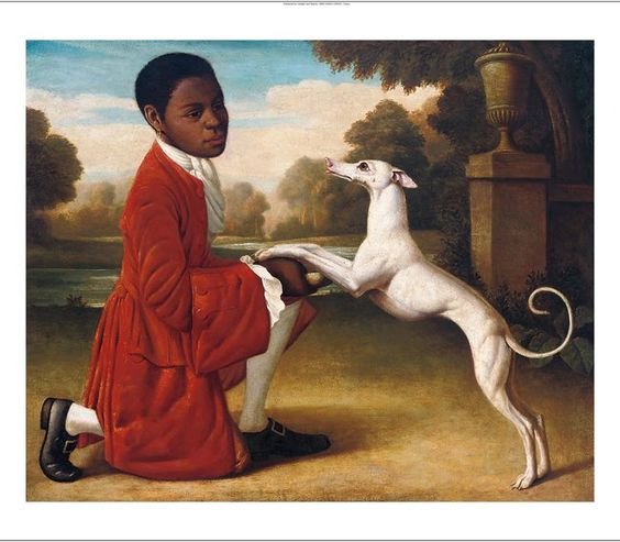 MANNER-OF-GEORGE-STUBBS-Page-Boy-with-Whippet-CANVAS-various-SIZES-BRAND-NEW