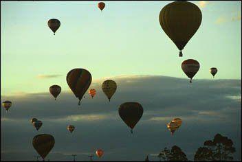 Festival balonismo em Torres/RS