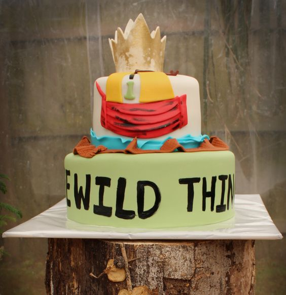 "Awesome ""Where the Wild Things Are"" Cake: Rumpus Birthday, Man S Birthday, 1St Birthday, First Birthdays, First Birthday Cakes, Birthday Ideas, Birthday Party, Wild Rumpus"