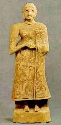 Sumerian Standing Female found in Dayala khafaji about 2600 B.C.