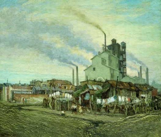Barrio de La Quema, 1930 Óleo sobre tela, 72,3 x 84,5 cm. Colección particular