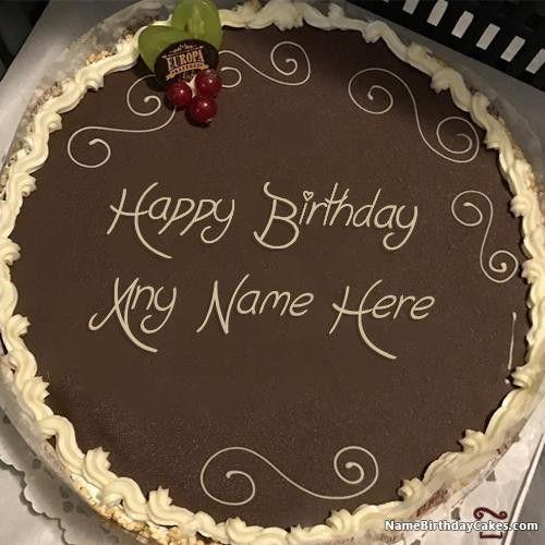 Amazing Happy Birthday Cake Write Name Di 2020 Personalised Birthday Cards Fashionlily Jamesorg