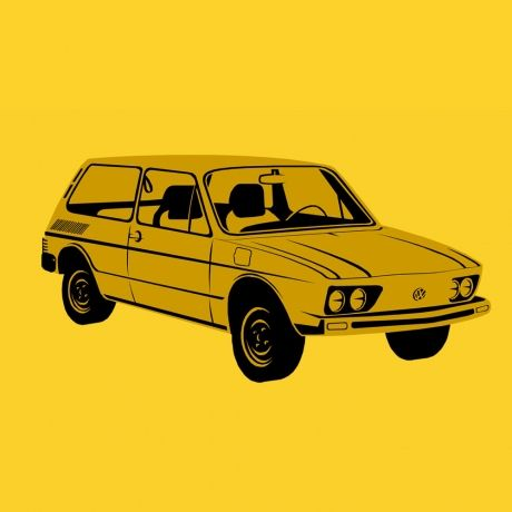 Brasília - Camiseta Clássica Amarela