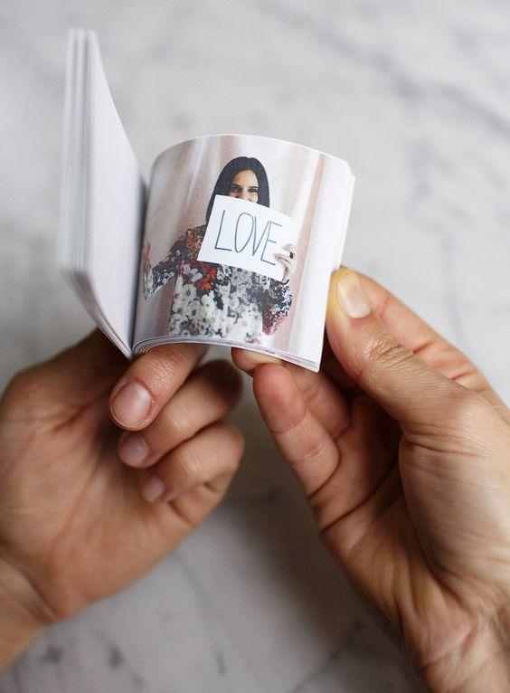 regalos manuales de amor flip book diy para decir te quiero