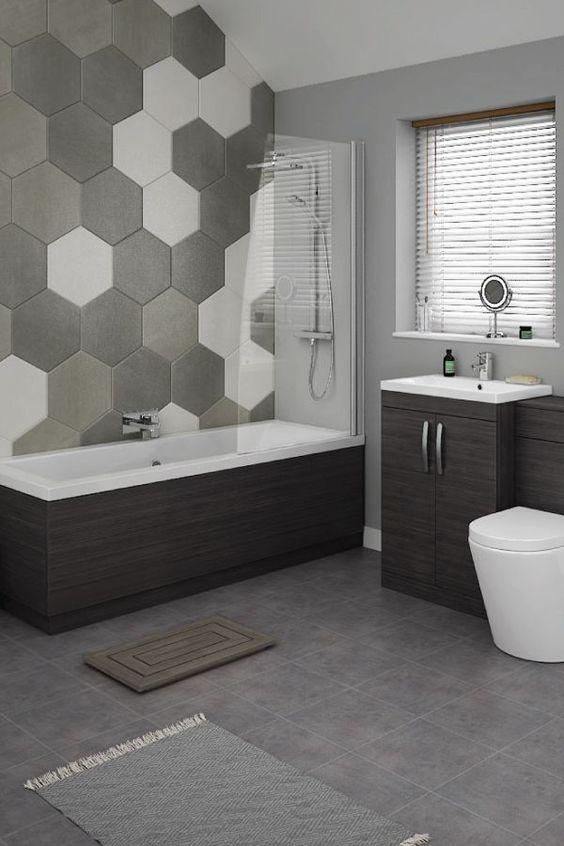 Estilo geométrico para baños