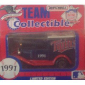 Minnesota Twins 1991 Matchbox MLB Diecast Ford Model A Truck White Rose Collectible Toy Car 1:64 Scale by MLB  $15.49