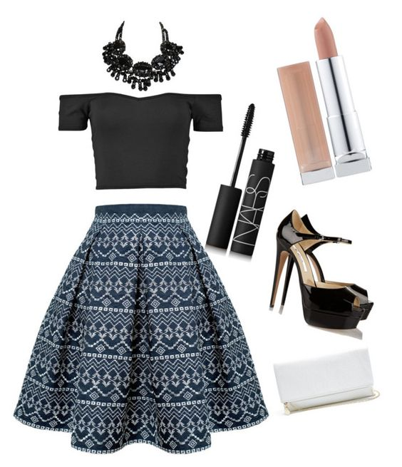 """Untitled #116"" by beccabar on Polyvore featuring Rumour London, Brian Atwood, NARS Cosmetics and GUESS"