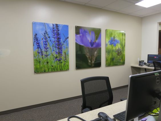 These pieces with imagery of the natural world contribute to a general atmosphere of healing and vitality.
