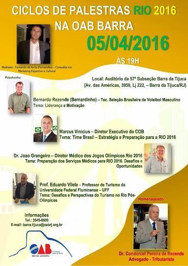Jornalista Denise Machado: DE OLHO NAS OLIMPÍADAS RIO 2016!