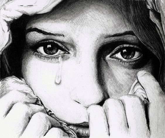 Drawing of a sad girl - good - thru her eyes | Art ...