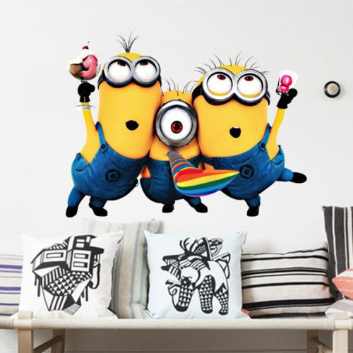 Cheap Wall Decals - New Cartoon Despicable Removable Vinyl Wall Decal Stickers Home Decor Kid Room