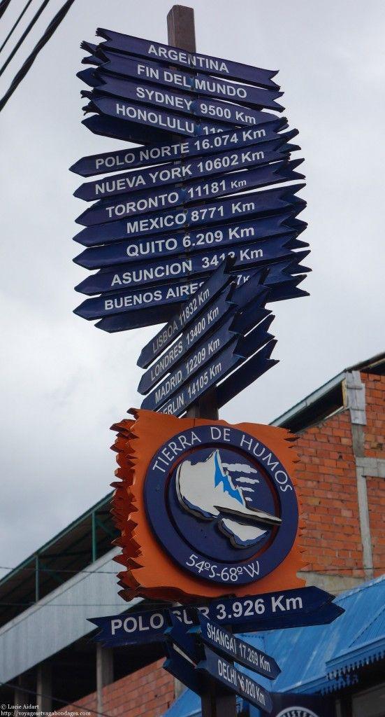 Panneau du bout du monde à Ushuaïa en Argentine