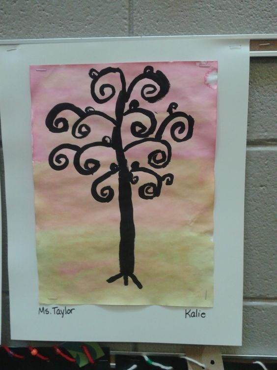 gustav klimt tree of life art projects for grade school