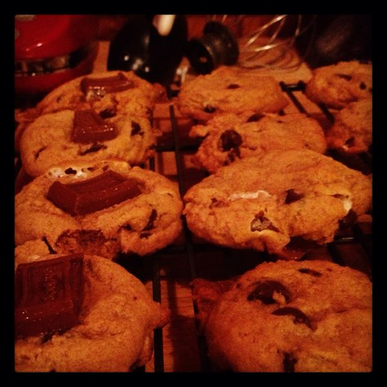 s'mores cookies non dairy version with dark chocolate and earth balance from #twopeasandtheirpod Super yummy!