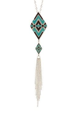 Savvy Cie Tribal Simply Long Necklace