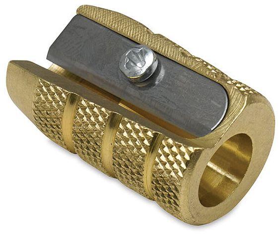 Brass 'Grenade' Pencil Sharpener by Möbius & Ruppert by dudeldopp