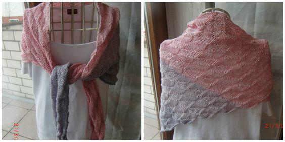 Zauberhaftes Tuch nach einer Anleitung von Martina Behm, zu finden im  Shop KleineSeligkeiten bei Dawanda