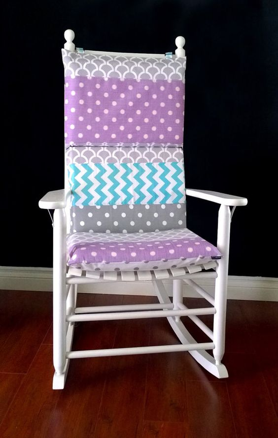 Rocking chairs, Chair cushion covers and Chairs on Pinterest