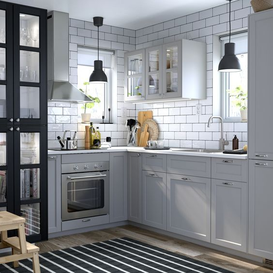 Ikea Lerhyttan Einbaukuche Grau Ikea Kuche Haus Kuchen