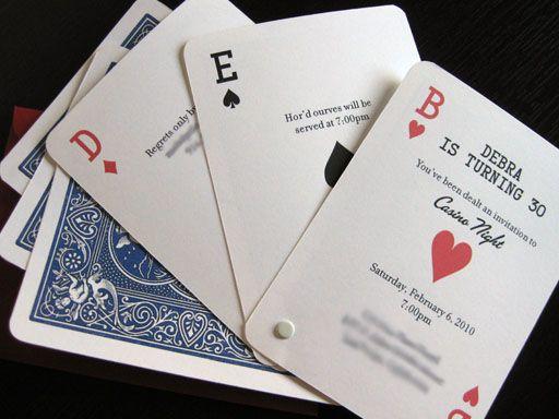 Playing card invite Estrogen Fest party board – Photo Card Invites