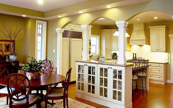 Pinterest the world s catalog of ideas for Dining room kitchen combination
