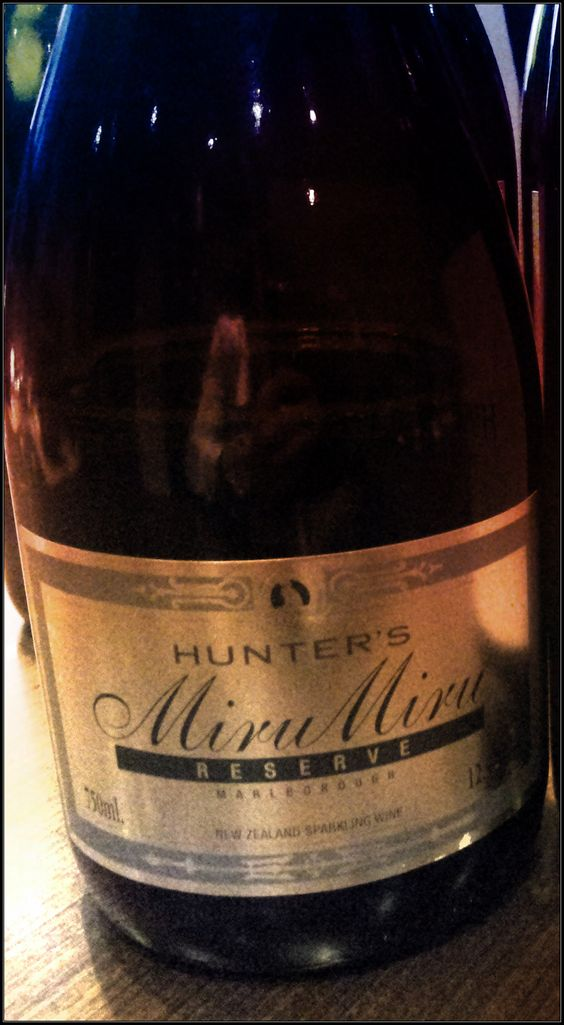 Hunter's Wines have just taken out a gold medal at the NZ International Wine Awards for their Mirumiru 2008 Reserve Sparkling. Cheers!