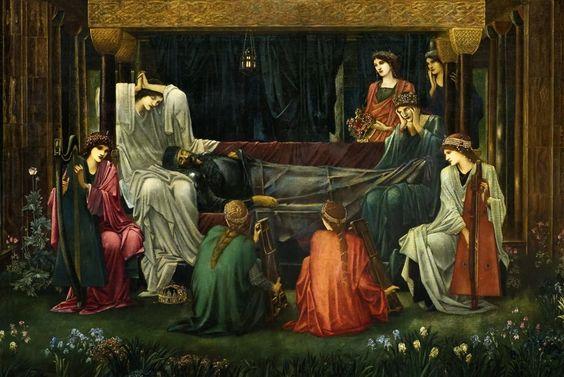 The Textile Blog: Edward Burne-Jones and 'The Last Sleep of Arthur ...