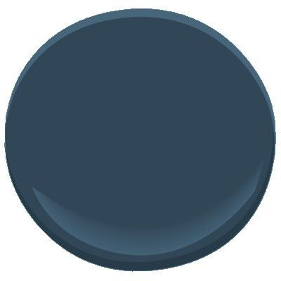 Benjamin Moore Gentleman's Gray. Transitional dark navy with gray in the undertone. Beautiful door, cabinet and furniture paint color.: