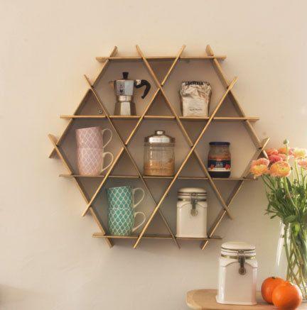 Küche Organisation der Lagerung, Kaffee-Regal,-Küche, Küche-Rack, Kaffee Becher Halter, Wandregale, Gold Küche Dekor Open Storage