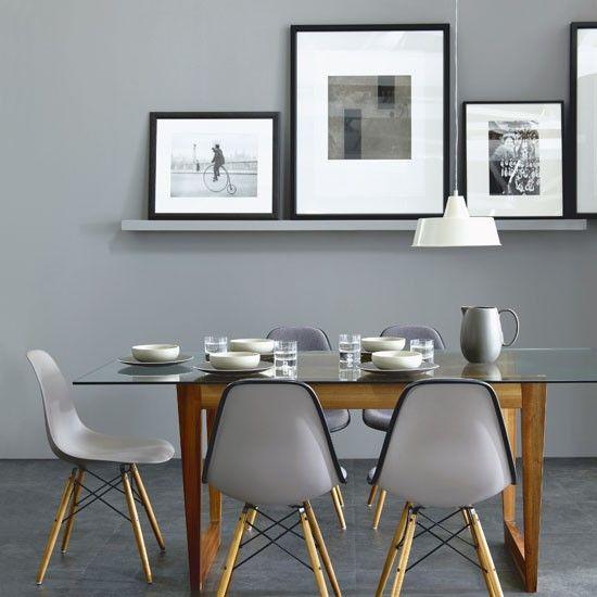 Esszimmer Wohnideen Möbel Dekoration Decoration Living Idea Interiors home dining room - Chic grau Esszimmer