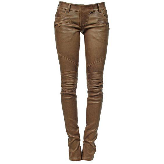 Brilliant Balmain Women39s Leather Biker Pants  SPENTMYDOLLARS  Fashion Trends