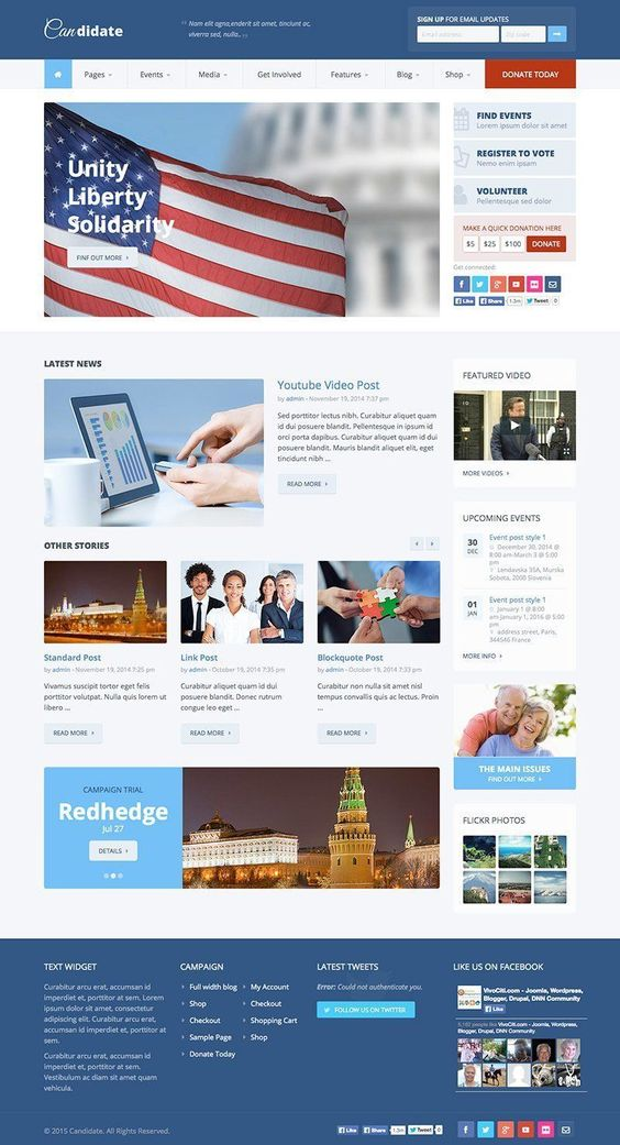 Candidate Political \ Nonprofit WordPress Theme - WPExplorer - political brochure
