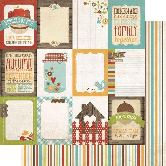Harvest Lane - Flash Cards CreActividades - Tienda de material para scrapbook en España