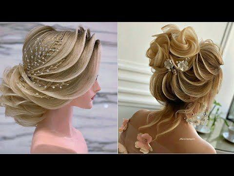 للعروس أجمل تسريحات الشعر 2020 أفخم تسريحات شعر للعرائس لعام 2020 تجعلهم ملكات جمال في يوم زفاف Youtube Penteados Cabelo