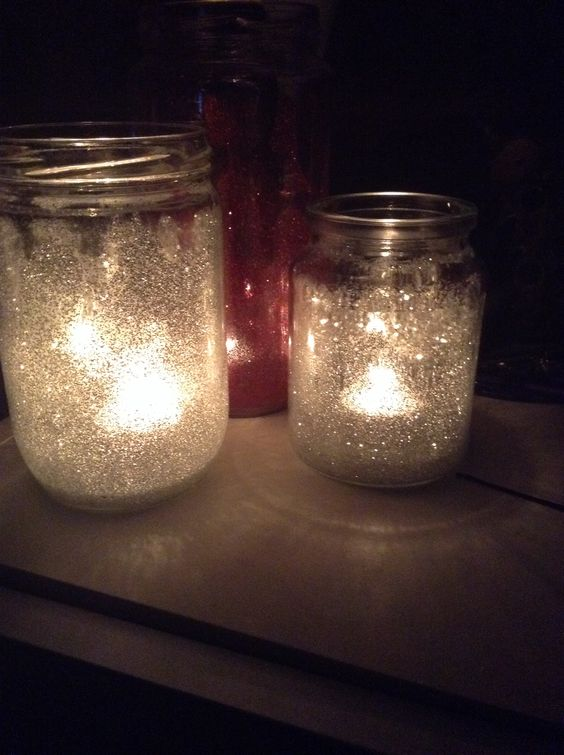 I love recycling things, I've used old jars, glue and glitter and made myself some new candle jars :)