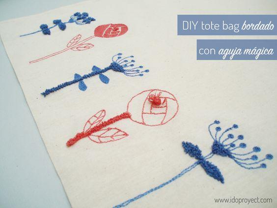 DIY tote bag bordado con aguja mágica