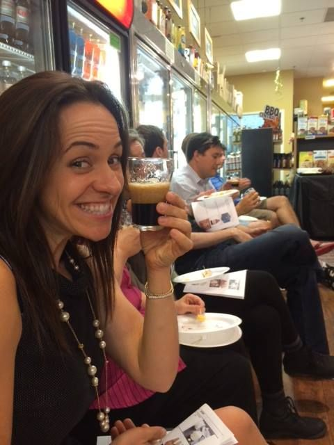hopportunity knocks Beer tasting at primebutchershop.com  Love that tiny beer!
