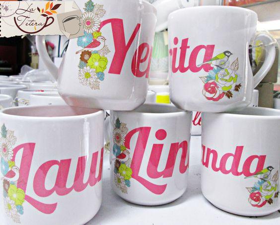 Personaliza tus mugs con nombre!! Te asesoramos en el diseño!! mercadeo@lateteramugs.com Wapp 3157332241
