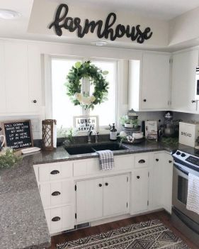 38 Getting The Best Kitchen Rugs Farmhouse White Cabinets 36 Kitchen Cabinets Decor Farmhouse Kitchen Decor Rustic Farmhouse Kitchen