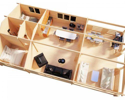 Zwei Schlafzimmer Ferienhaus Holiday F 50m2 7 X 12 M 70mm Hansagarten24 Ferienhaus Haus Ferien Tisch