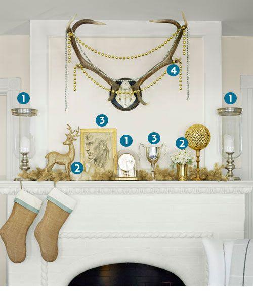 decorology: Mi Corona de Navidad, guirnaldas preciosas de otras personas, y la chimenea de Navidad ideas de decoración