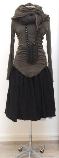 rundholz dip - Shirt Tüll filz - Winter 2015 - stilecht - mode für frauen mit format...
