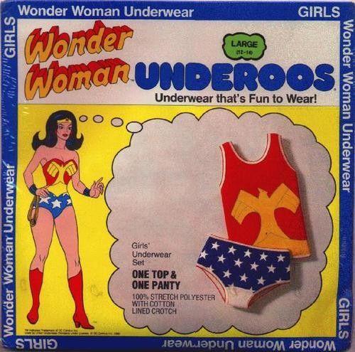 FRUIT of the LOOM: 1979 Wonder Woman Underoos #Vintage #Toys