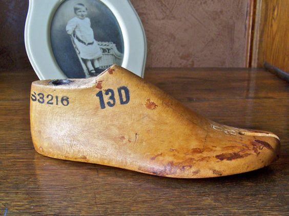Wood Shoe Form Childs Size by cynthiasattic on Etsy, $22.00