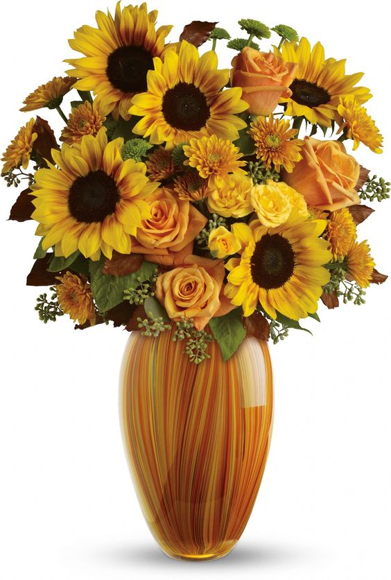 For the one who loves sunflowers, this is the perfect bouquet! Teleflora's Golden Sunset Bouquet: